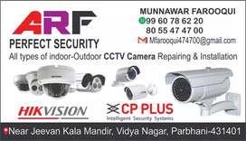 All types of indoor-outdoor CCTV Camera service & Repairing