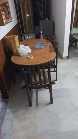 6 chairs and table