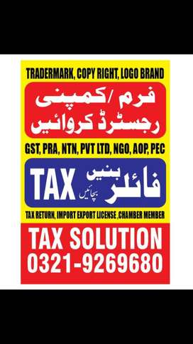 TAX SOLUTION ,NTN, FILER, INCOME TAX, SALES TAX