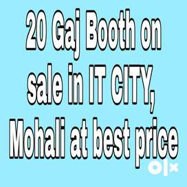 20 gaj booth at best price on sale in IT CITY, Mohali