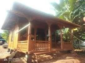 Rumah panggung kayu jati