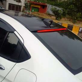 Honda City roof spoiler with led abs plastic made in Taiwan