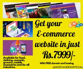 E-COMMERCE website in just Rs.7999/- with FREE domain and hosting