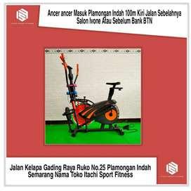 Sepeda Statis Orbitrek 6 Fungsi Plus Dumble ( No.Hp Di Logo Profil )
