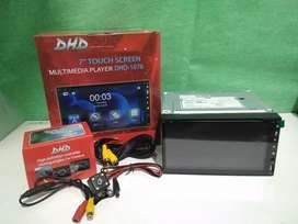 Doubledin tv DHD full glass mirorlink camera dan pasang terima beres