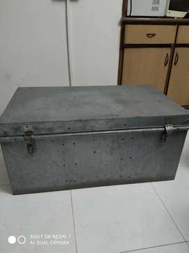 Iron trunk suitable for sufficient storing space.