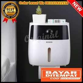 Kotak Tisu Tissue Storage Toilet Paper Box Dispenser Double Layer Whit