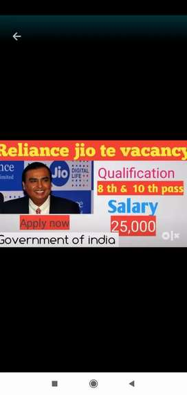 Golden opportunity in jio call center part-time job