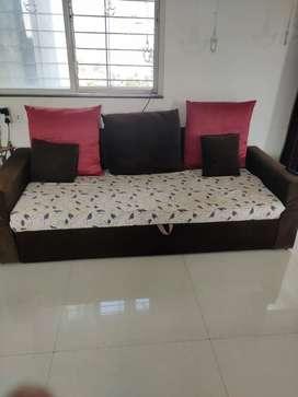Sofa cum Bed...wooden floor bed
