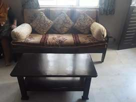 3 seater & 2 seater sag sofa with Tea Table