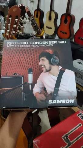 Mic condenser + headphone merk samson original