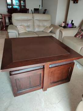 Coffee table with four seats