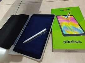 Tab Advan sketsa 10 inch + Pen Stylus + Softcase