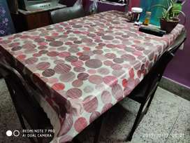 A 3 seater folding dining table