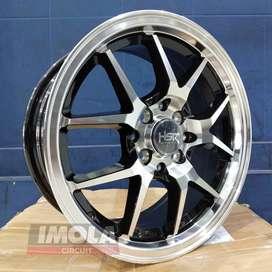 Velg mobil racing murah ring 15 HSR wheel baut 4x100 dan 4x114,3 Brio