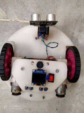 Line follower and maze solver robot with on board display