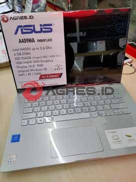 Jual Asus Vivobook A409MA Terbaik Gorontalo  RAM 4 SSD 256  W10+OHS