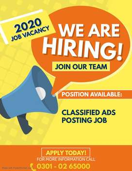classfied ads posting job