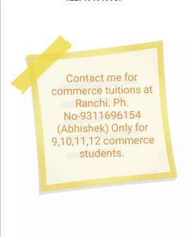 Commerce classes by Abhishek Sir. (9 to 12 class students)