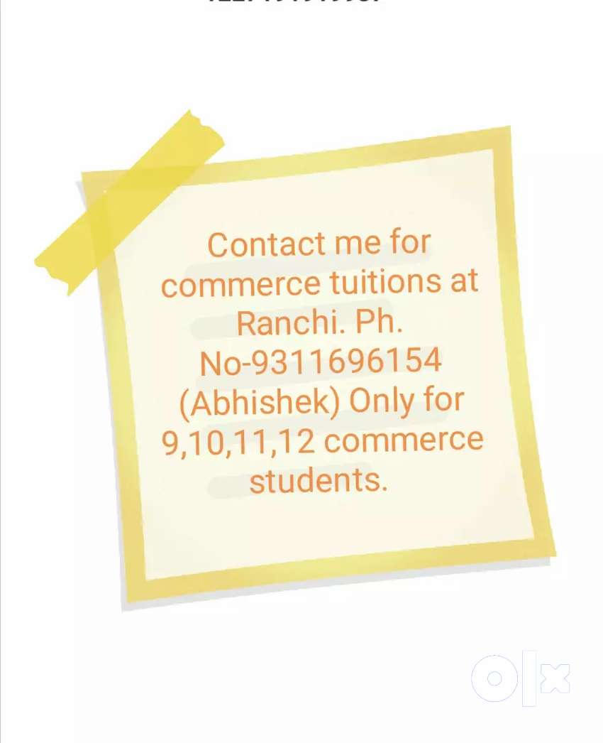 Commerce classes by Abhishek Sir. (9 to 12 class students) 0