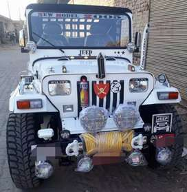 Willy white modified jeep