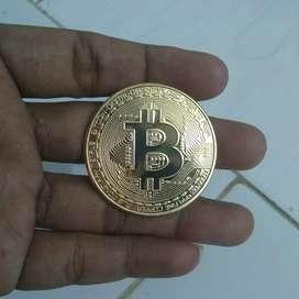 Koin BITCOIN Gold  Plated Coin