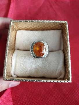Cincin Eropa Pria Berlian Yellow Sapphire Besar Afrika Kode 004