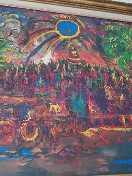 lukisan affandi gambar borobudur