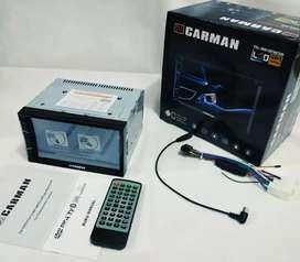 Ddin DvdTV MirrorLink merk Carman FullHD Soket Toyota PNP