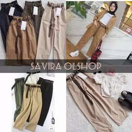 PS PROMO!! POCKET STRADY PANTS / BAGGY SAKU PANTS price : 50.000 bera.