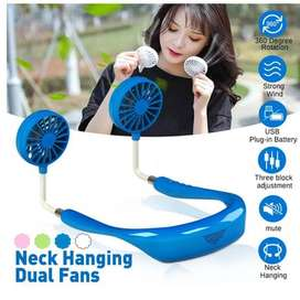 Neck Fan with rechargeable battery
