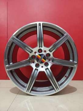 Velg Mobil Rostock Ring18x8/9 Pcd 5x112 mercy Audi Chariman