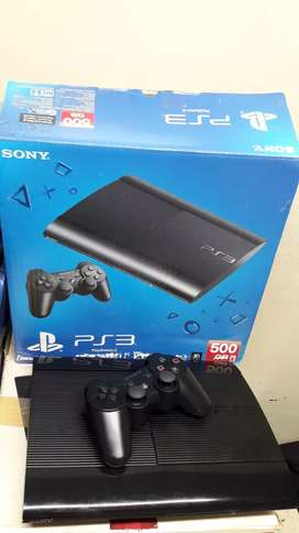 Ps3 500gb  40 games bundle 2 controllers 1 year warranty