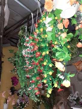 Pot Gantung Rambat Artifisial Kemuning Green Tanaman Hias Plastik