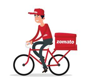 Join Zomato as food delivery partner in udaipur on Cycle