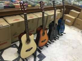 Acoustic guitar new pack 38 inches (4 colours)