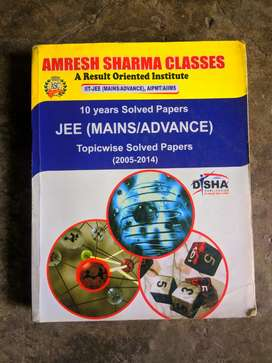 Amresh Sharma Jee Mains and advance 10 years solved papers