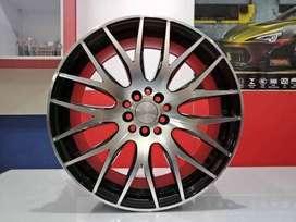 Cicil Velg Mobil HSR Model NIFTY Ring 18 PCD 5X100-114,3 DP 10% BMF