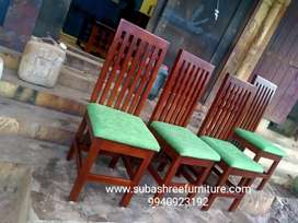 Simple and strong dining table and chairs teakwood