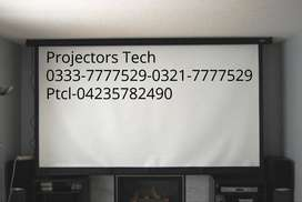 Wall Mounted Projector Screen, High Quality Projector Screen in Lahore