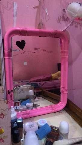 Cermin pink murah