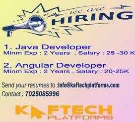 Java Developer & Angular