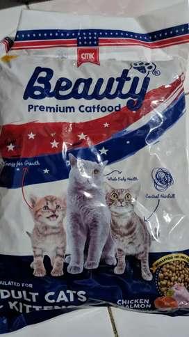 Makanan Kucing Beauty 1 KG sejenis Bolt Ori Cat