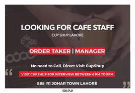 Order Taker and Manager Jobs Available at CupShup
