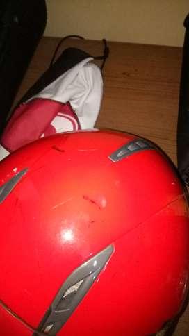 Helm KYT runner 2 full face 2 visor merah