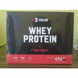 Evolene Whey Protein Untuk 456 Gram (12 sachet)  BPOM HALAL MUI