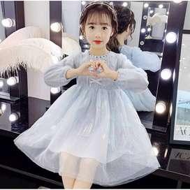Dress Anak Premium Glow Aurora Import Usia 2-5 Th