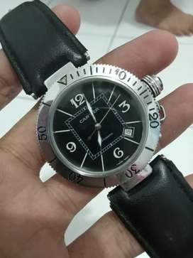 Cartier De Pasha Automatic Black Dial