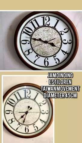 Jam dinding besar dari Taiwan import baru murah keren sangat bagus
