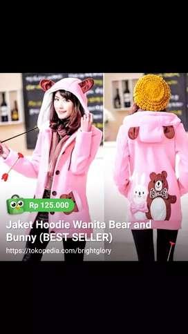 Jaket Hoodie Bear and Bunny